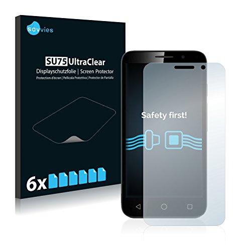 Savvies 6X Schutzfolie kompatibel mit Vodafone Smart Turbo 7 Bildschirmschutz-Folie Ultra-transparent