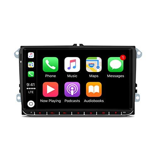 """XTRONS 9 """"Autoradio Android 10 Qualcomm Bluetooth 4G + 64G 8-Kern-GPS-Navigation Autoradio-Unterstützung Plug & Play CarAutoPlay WiFi TPMS OBD DVR DAB + Rückfahrkamera für VW Passat Golf"""