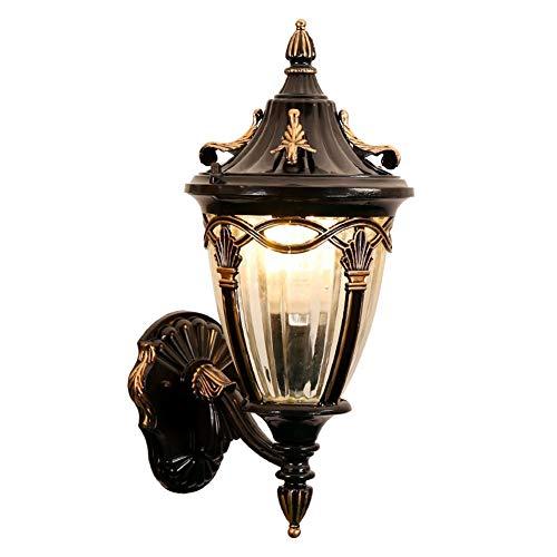 Retro wandlamp voor buiten, Europa Villa kandelaar, waterdicht, radius E27, verlichting voor nachtkastje, ontvangst, binnenverlichting