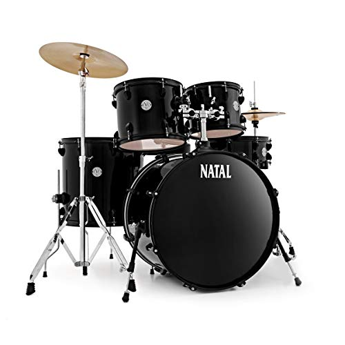 Natal EVO LA Rock Fusion Complete Starter Drum Kit, Black