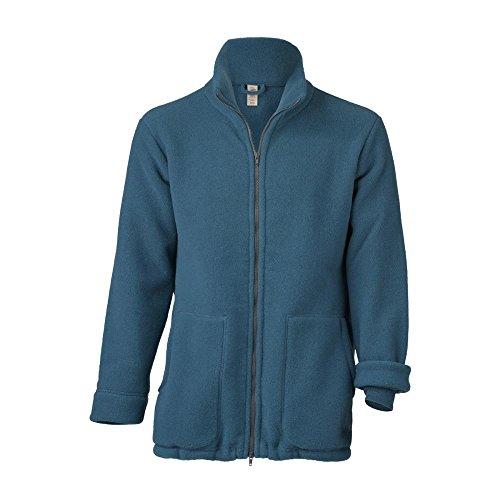 Engel Damen/Herren Fleece-Jacke Reine Bio-Wolle, Atlantik, Gr. S
