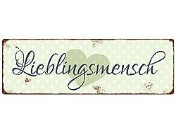 """Blechschild """"Lieblingsmensch"""""""