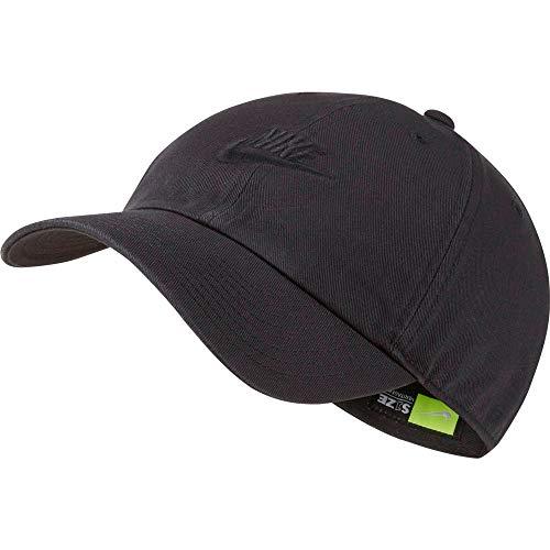 Nike Unisex-Erwachsene U NSW H86 Cap Futura Washed Kappe, Schwarz, Einheitsgröße