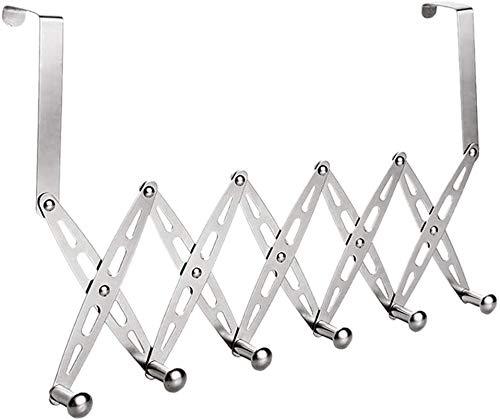 JUIO Hook Up, Puerta enganchan el estante de acero inoxidable 6-gancho de la suspensión flexible de pared decorativos estante de la cocina Organizador Inicio baño de metal plegable titular for abrigos