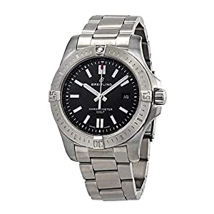 Breitling Watches Breitling Chronomat Colt Automatic 44 Black Dial Men's Watch (Ref: A17388101B1A1)