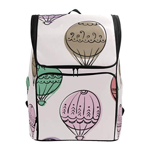 LISNIANY Rucksack,Hand gezeichnete Gekritzel Bunte Luftballone,Computertasche,Schultasche,große Kapazität