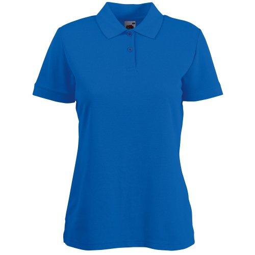 Fruit of the Loom Damen Lady-Fit 65/35 Pique Polo Shirt, Royal Blau, Gr.XXL