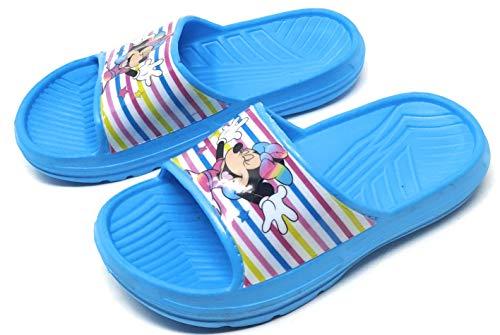 Sandales - Claquettes Enfant Fille Minnie Disney Bleu du 27 au 34 (Numeric_27)
