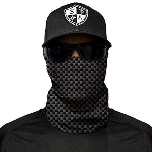 SA Fishing Face Shields ** 40+ Designs verfügbar ** Qualitäts Bandana / Multifunktionstuch / Schlauchtuch / Halstuch aus Stoff & SPF 40 - Face Masks von SA Company, Carbon Fiber
