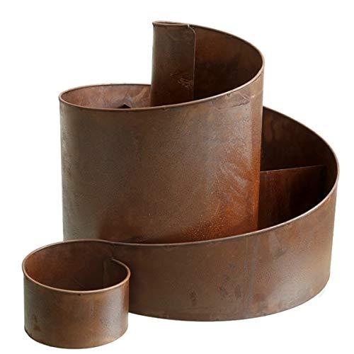 UDIG Kräuter Spirale, Metall, Shabby rost, 41 cm, Antik Design Kräuterschnecke