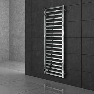 ECD Germany Radiador toallero de baño DHK Kamak - 500 x 1000 mm - Cromado - Radiador calentador y secador de toallas - No eléctrico - Radiador de pared - 104 W - Radiador calefactor de baño