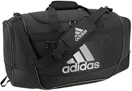 adidas Defender III medium duffel Bag, Black/Silver, One Size