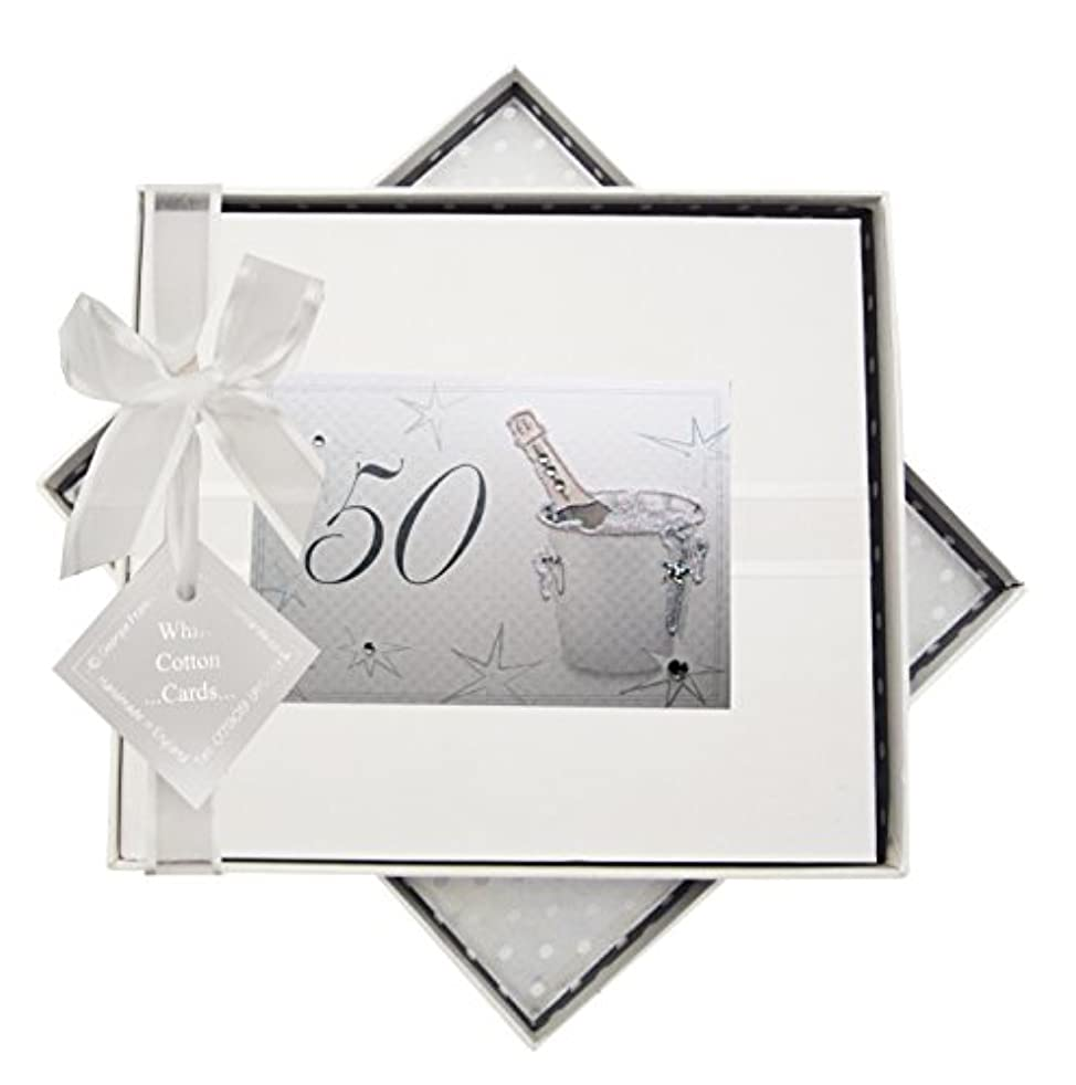 WHITE COTTON CARDS 50th Birthday, Guest Book, Champagne Bucket