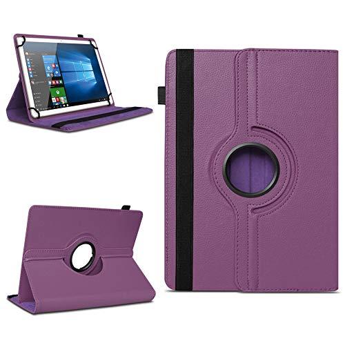 NAmobile Tasche kompatibel für Vodafone Tab Prime 6/7 Tablet Hülle Schutzhülle Hülle Schutz Cover 360° drehbar, Farben:Lila