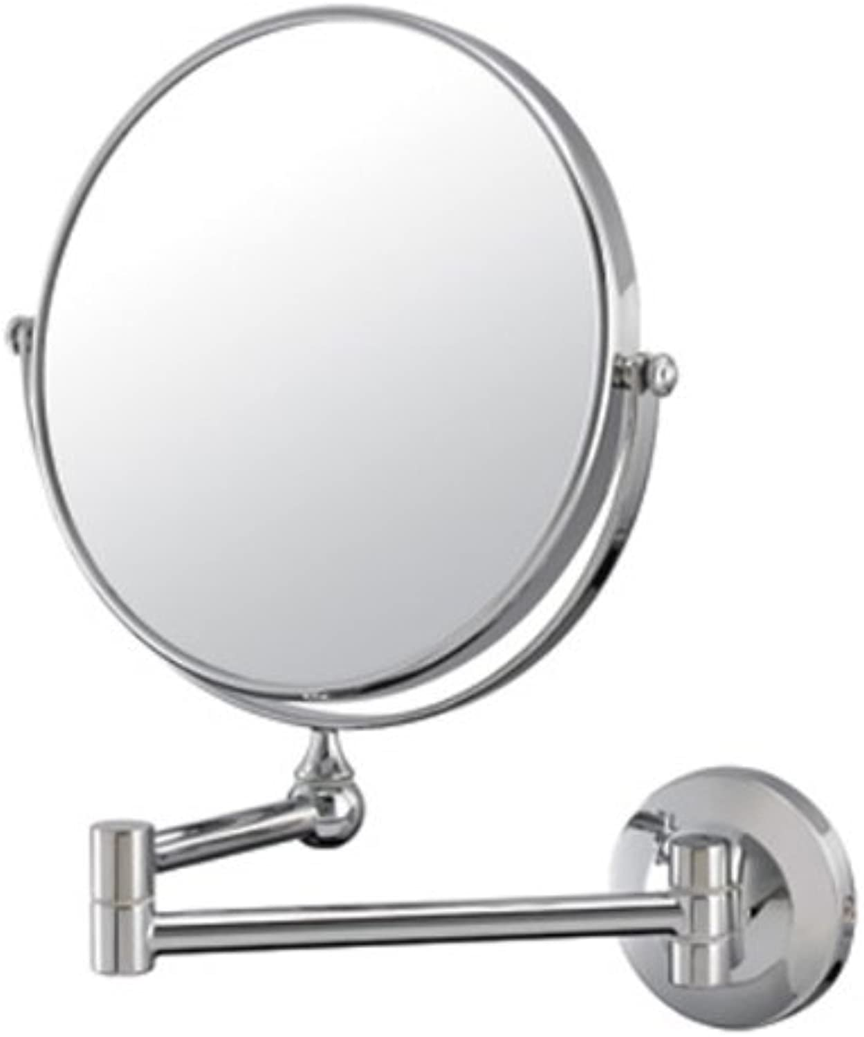 Mirror Image 20740 Double Pivot Arm Wall Mirror with Chrome Frame, 7.75-Inch