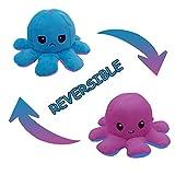 Octopus Plüschtiere,Doppelseitige Flip Octopus Puppe, Weiche reversible Octopus Kuscheltiere Puppe...