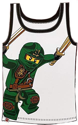 TVM Europe GmbH Lego Ninjago Unterhemden Set Jungen 2 Stück Weiss UND BLAU Ninja 2 X Unterhemd Gr.134/140