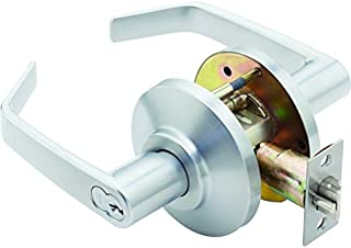 Satin Stainless Steel CRX-K-72 Grade 1 Cylindrical Lock with Ligature Resistant Knob Trim Double Dummy Function Non-Handed TownSteel