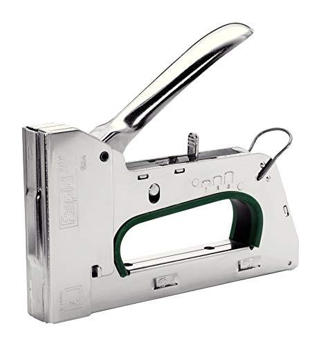 Rapid Handtacker R34, Tacker für Holz und Folien, Leistungsstark, Komplett aus Stahl, für Klammern Typ 140, 6-14mm