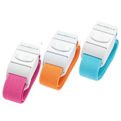 RolSeley - Torniquetes compresor enfermeria médicos, color rosa, naranja y azul