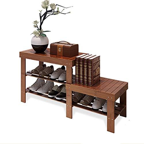 ZUQIEE Zapatero de bambú de 2 capas, ideal para entrada, baño, salón y pasillo