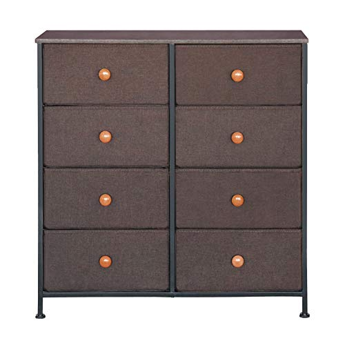 8 Drawer Dresser, Dressing Table Organizer With 8 Drawers, Suitable For Bedrooms, Hallways, Entrances, Handy For Storing Clothes, Scarves And Hats, Robust And Durable -Brown DS0007A