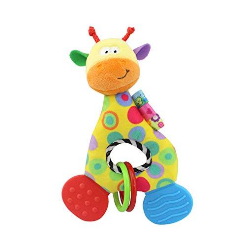 Baby-weiches Plüsch-Spielzeug, reizender Beißring Rattle Greiflinge mit Schnuller Clips Beißring Kette