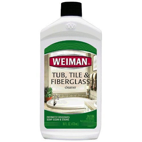 Weiman Tub Tile and Fiberglass Cleaner 16oz bottle (pack of 2) by Weiman