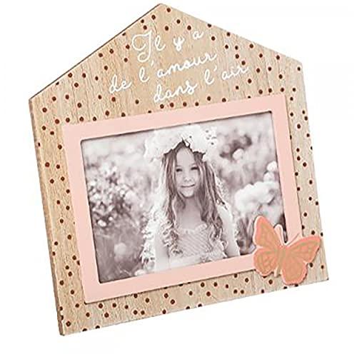 Marco de Fotos 10x15 Infantil decorativo, Portafotos Mariposa para niños Decoración Dormitorio. (MODELO A) ⭐