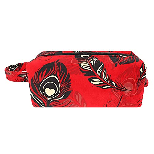 Bolsa de aseo de viaje para colgar cosméticos para mujeres y niñas, impermeable, conejo con huevos de Pascua sobre hierba verde