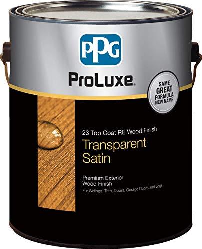 PPG ProLuxe 23 Top Coat R.E. Wood Finish, 1 Gallon, 077 Cedar