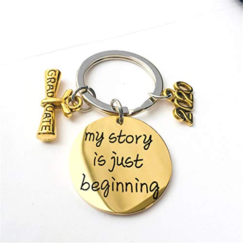LHHA 2020 Abschlussgeschenke Schlüsselbund - Meine Geschichte beginnt gerade Schlüsselkette Schmuck Abschluss Inspiration inspirierende Geschenke für Frauen Männer