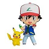 XXSDDM-WJ Anime - Pokémon - Ash Ketchum con Figura de acción de Nendoroid de Pikachu-1228
