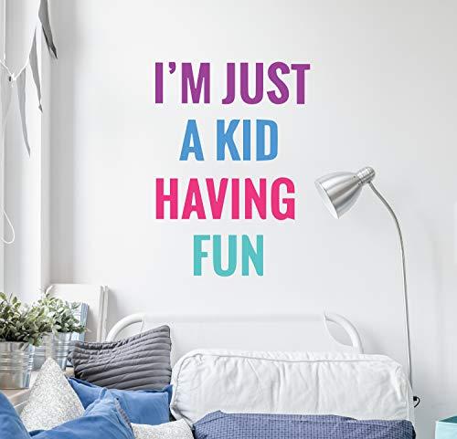 Divertido y lleno de colores calcomanía para la habitación de los niños...