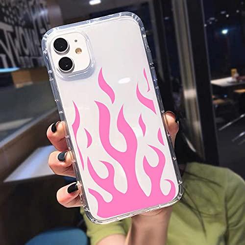 Estuche de silicona transparente anti-caída de moda para teléfono móvil, adecuado para iPhone 12mini 11 Pro X XS MAX XR SE20 7 8 funda protectora, carcasa trasera a prueba de golpes con patrón de lla