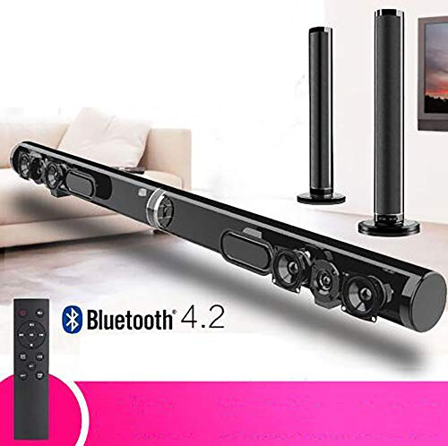 Waitinsd Bluetooth détachable Soundbar 50W sans Fil stéréo Subwoofer Haut-Parleur TV Home Cinéma...