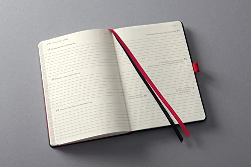 Sigel C2208 Conceptum Weekly Planner 2022-14,8 x 21,3 cm – hardcover – 192 Pages – Black, red