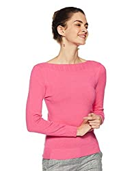 QUBE BY FORT COLLINS Womens Sweater (CH103_Light Fushia_M)