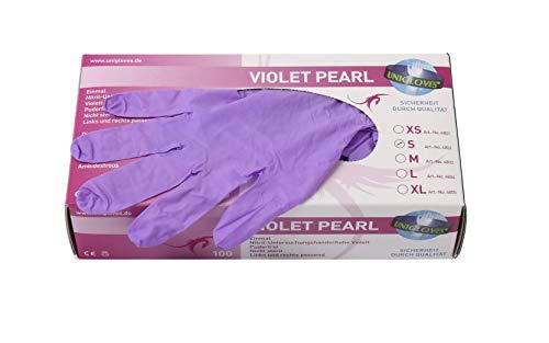 Handschuhe Nitril 100x Stück Violet, Einweghandschuhe, reißfest (S)