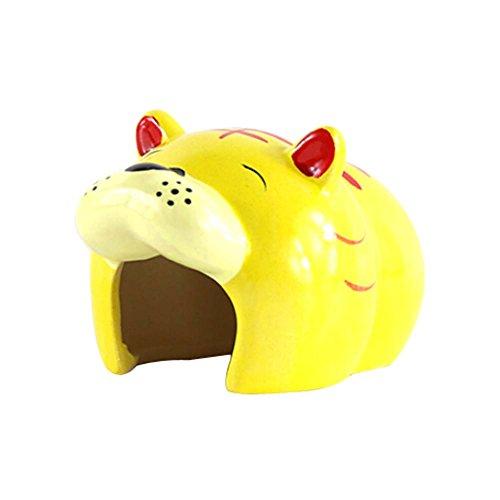 Blancho Animaux Jouets Maison Motif Tigre Bottomless Hamsters Habitat 9x8x6 cm