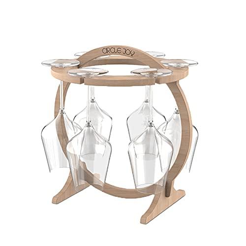 Wine Glass Rack Soporte para Copas de Vino, Sistema de Secado de Aire, Soporte de Exhibición de Copa de Vino Independiente, Estante de Almacenamiento para Escritorio con 6 Ganchos
