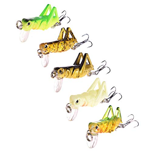 NUOMI 5-Piece Mini Fishing Lures Crankbait Bass Fishing Hard Baits