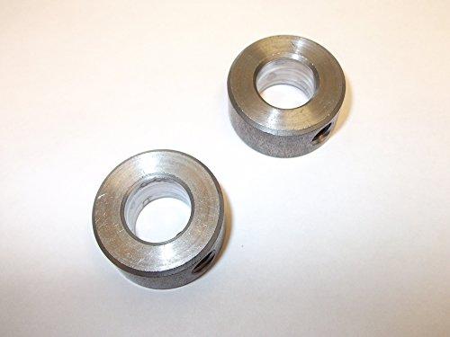 Innovo - Juego de 2 collares de acero sólido de 12 mm con tornillo de bloqueo de una sola pieza