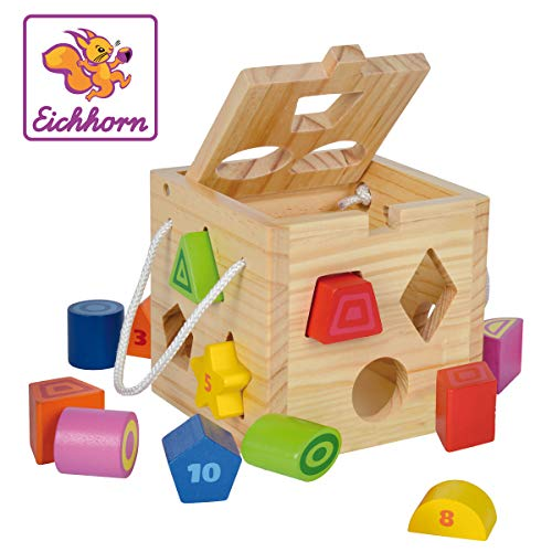 Eichhorn-100002092 Cubo encajables, Multicolor (100002092)