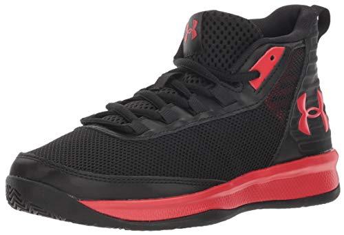 Under Armour Boys' Pre School Jet 2018 Basketball Shoe, Black (001)/Red, 2