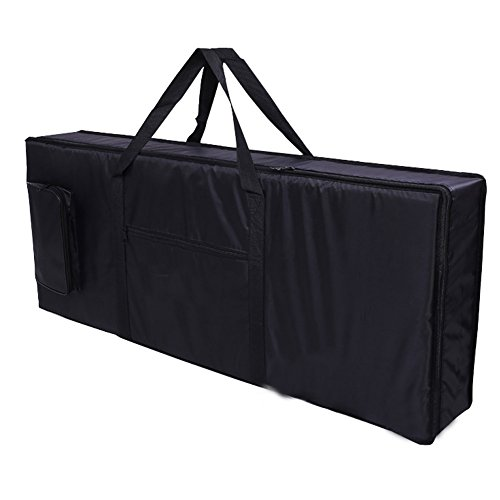 Hersent 61 Note Electric Piano Keyboard Bag with Portable Handle Shoulder Straps 420D Oxford 4mm Padding Case Gig Bag Best Gift for Music Students or Instrument Enthusiast HJT07-US