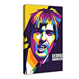 George Harrison Sängerin Leinwand-Poster, Wandkunst,