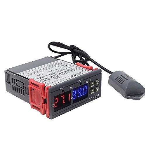 KKmoon Display Digitale Regolatore di Temperatura e Umidità Regolatore Termostato Igrometro -20 ° C ~ 80 ° C con Sonda Integrata Sensore Uscita Relè 110-220V