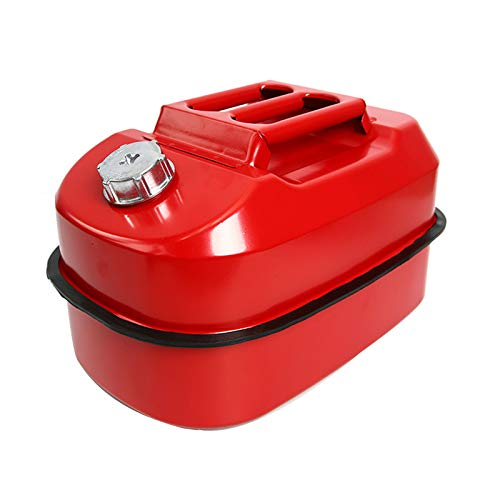 Barril De Gasolina Horizontal Lata De Combustible Tanque De Combustible De Repuesto para Automóvil Barril Diésel De Hierro Portátil 20L para Yates De Moto, Rojo
