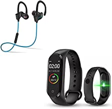 Texton Waterproof M5 Smart Band Fitness Heart Rate, Activity Tracker,Calorie Counter, Blood Pressure, & OLED Touchscreen w...